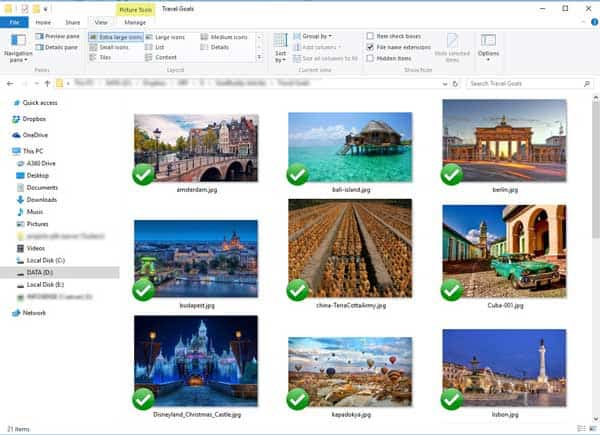 travel goals folder